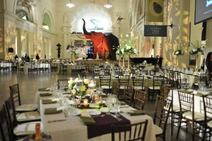 The elegant Field Museum all dressed up for a party!
