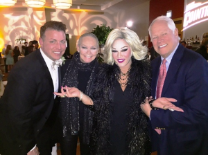 With Derrick Taylor, Aurora Sexton (aka Joan Rivers) and Chuck