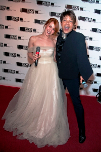 HOS Red Carpet hosts Kate Pankoke and Tommy Walton