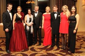 Elegant gala attendees