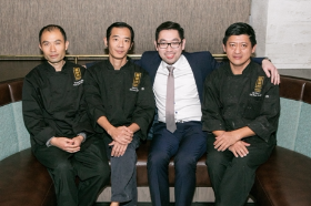 The Imperial Lamian culinary team--Chef Wang, Chef Foo, CEO Vincent Lawrence and Chef Lim