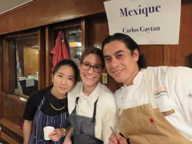 Fan Favorite winner, Carlos Gaytan, and colleagues of Mexique