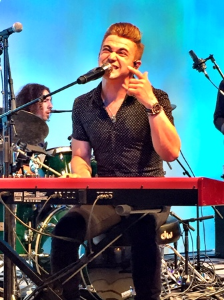 Hunter sang his little heart out!