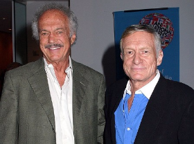 Hef with late, younger brother Keith
