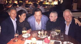With Chris and Frances Renk and Chuck at STK for Paul's birthday