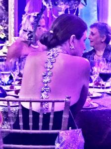 Chic dress detail on Christine Ott's gown
