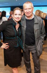 Michigan Avenue Magazine covergirl Anna Chlumsky with Michael Kutza