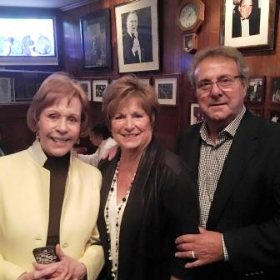 Carol Burnett with Tony and Marion Durpetti