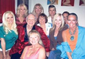 With Hef and friends in the Bunny House at the Mansion