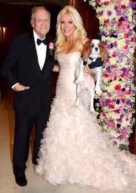 Hef and Crystal Hefner at their wedding