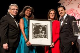 Carlos Tortolero, Diana Palomar, honoree Lisa Madigan, Carlos Cardenas