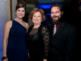BGCC President and CEO Mimi LeClair with Club Alumni Mercedes Mora-Nowinski and her husband Darryl
