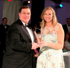 Aon CEO Greg Case and Board Chair Susan Whiting