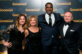 Erin Clifford, Goodman Board Chair Joan Clifford, Norm Lewis and Bob Clifford