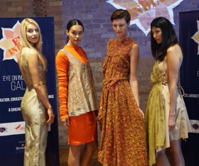 The Sari Project models Heidi Kurejka, Alexis Gaube, Rachael Luesse and Rebecca Uy