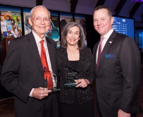 Leadership in Giving honoree Paul Earle, Ellen Rudnick and Scott Humphrey