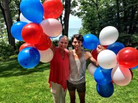 Celebrating with Jeffrey Powell