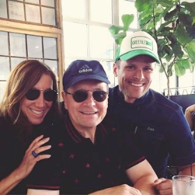 Nina and Bob Mariano with cute friend Jon Rollo