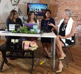 Chatting with Chicagonista LIVE! hosts MJ Tam, Beth Rosen and Nancy Loo