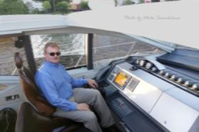 Arthur Samokhina enjoys a COAST yacht cruise
