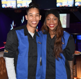 Chicago Sky's Tamera Young and Cappie Pondexter