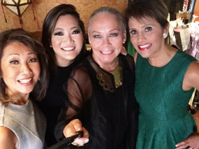 With Linda Yu, Ji Suk Yi and Sylvia Perez