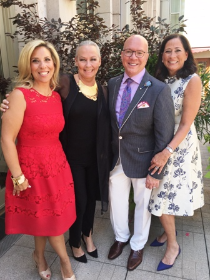 With co-chairs Sharyl Mackey and Jean Antoniou and the Peninsula's Greg Hyder