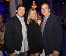 PartySlate team John Haro (CTO/co-founder), Julie Roth Novack (CEO-co-founder), Mark Semon (exec.creative dir.)