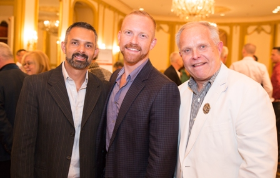 Designer Diego Rocha, Chris Schmidt and Chicago Gay and Lesbian Hall of Famer Bill Pry