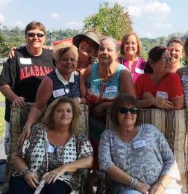 Dee Cowing, Rhonda Ford, Rhonda Adkins Rapp, Linda Bradley Stein, Mary Ann Banks, Debbie Range Aldridge and Sherie Creggo