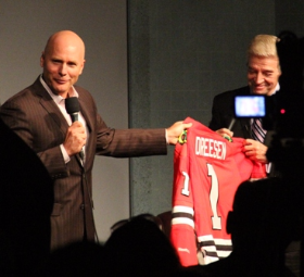 Tom officially becomes a Blackhawk!