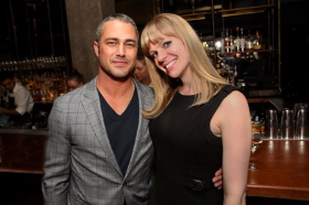 Chicago Fire star Taylor Kinney (former fiance of Lady Gaga) with Elena Samokhina