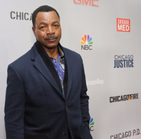 Look! It's Apollo Creed! Actually, it's Carl Weathers, star of Chicago Justice
