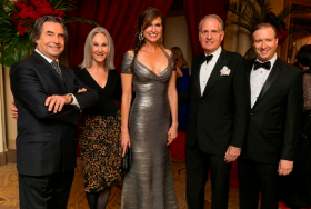 Riccardo Muti, CSOA board chair Helen Zell, co-chairs Laura King and Jamey Fadim & CSOA pres. Jeff Alexander