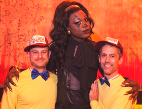 AIDS Foundation of Chicago President/CEO John Peller and David Jablonowski with Bob The Drag Queen
