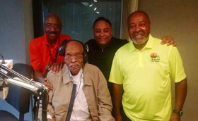 Everett Rand, Herb Kent, Tyronne Stoudemire and friend