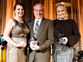 With fellow Shining Star recipients Jessie Paré and Dan Bernstein