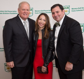 Johnny Miller with Bettina and Marc DeFife