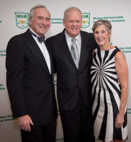 Martin Hughes, Johnny Miller and Julie Hughes