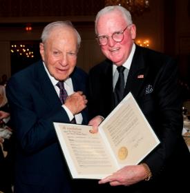 Ed Weil with Alderman Ed Burke