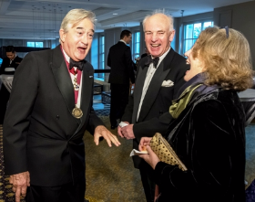 Antony Beevor, Hew Strachan and wife Pamela