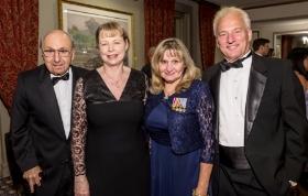 Brig. Gen. Walter Vartan, Jane Vartan, Master Sergeant Ginny Narsete and Jim Narsete