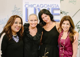 With ChicagonistaLIVE!'s MJ Tam, Debi Lilly (A Perfect Event) and ChicagonistaLIVE!'s Beth Rosen