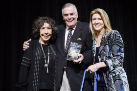 Lily Tomlin presented the Paul Jolly Award of Caring to Peter and Laurie Marshall
