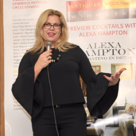 Guest speaker, nationally renowned interior designer Alexa Hampton