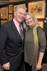 Tim McCabe, executive director of the Winnetka Community House poses with Connie Berman