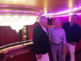 Chuck, Ken and Paul touring the theater at the exquisite Faena Hotel SoBe