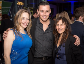 Liz Grossman, Curtis Duffy and Lisa Shames