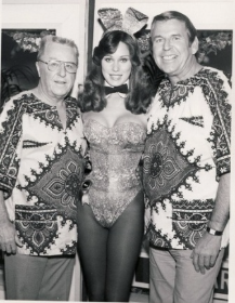 My beautiful friend, Patti McGuire Connors (PMOY 1977) with George Goebel and Paul Lynn