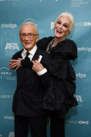 Photographer Victor Skrebneski with another legend, 85 year-old model Carmen dell Orefice